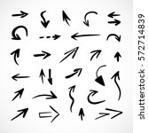 hand drawn arrows  vector set | Shutterstock .eps vector #572714839