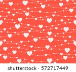 seamless  pattern hearts.... | Shutterstock .eps vector #572717449