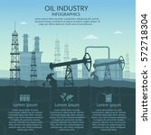 vector oil rig industry of... | Shutterstock .eps vector #572718304