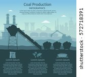 coal mining industry and... | Shutterstock .eps vector #572718391