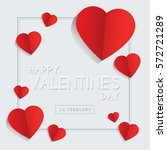 happy valentine's day greeting... | Shutterstock .eps vector #572721289