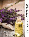 lavender spa setting. wellness... | Shutterstock . vector #572722789