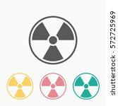 radiation icon | Shutterstock .eps vector #572725969