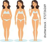 woman slimming stage progress... | Shutterstock .eps vector #572726269