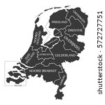 netherlands map labelled black... | Shutterstock .eps vector #572727751