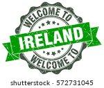 ireland. welcome to ireland... | Shutterstock .eps vector #572731045
