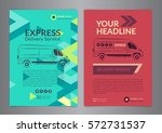 set a4 express delivery service ... | Shutterstock .eps vector #572731537