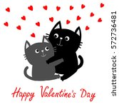 happy valentines day. black... | Shutterstock .eps vector #572736481