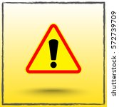 warning attention with... | Shutterstock .eps vector #572739709