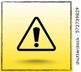 warning attention with... | Shutterstock .eps vector #572739829