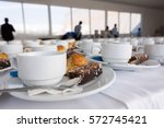close up coffee white cup and... | Shutterstock . vector #572745421