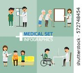 doctor and medical set with... | Shutterstock .eps vector #572748454