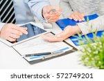 loan agent home key real estate ... | Shutterstock . vector #572749201