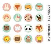 cartoon icon collection with...   Shutterstock .eps vector #572750329