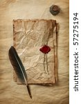 Blank Paper With Wax Seal ...