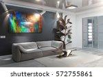 Modern Living Room Interior...