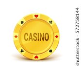 golden casino chip. realistic... | Shutterstock .eps vector #572758144