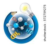 funny creative chemistry... | Shutterstock .eps vector #572759275