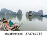 halong vietnam   april 5 2014   ... | Shutterstock . vector #572761759