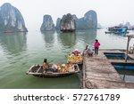 halong vietnam   april 5 2014   ... | Shutterstock . vector #572761789
