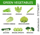 green vegetables collection ... | Shutterstock .eps vector #572766307