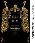 indian wedding invitation card... | Shutterstock .eps vector #572770447