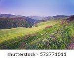beautiful mountain landscape in ... | Shutterstock . vector #572771011