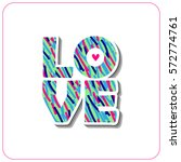 bright textured card with word... | Shutterstock .eps vector #572774761