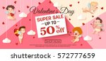 valentines day sale banner with ... | Shutterstock .eps vector #572777659
