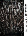 metal knight swords background. ... | Shutterstock . vector #572778379