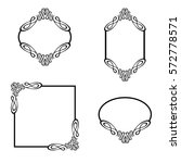 vector illustration. set frames.... | Shutterstock .eps vector #572778571