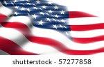 american flag render   Shutterstock . vector #57277858