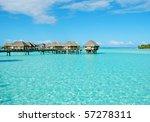 over water bungalow at bora bora   Shutterstock . vector #57278311