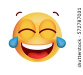 cute very happy with tears of...   Shutterstock .eps vector #572787031