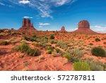 Red Sand Desert In Monument...