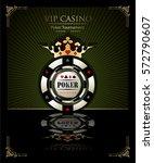poker chip.casino background... | Shutterstock .eps vector #572790607