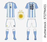 set of soccer jersey or... | Shutterstock .eps vector #572796421