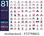 mega set and big group  real... | Shutterstock .eps vector #572798821