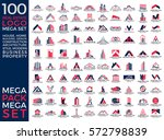 mega set and big group  real... | Shutterstock .eps vector #572798839