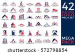 mega set and big group  real... | Shutterstock .eps vector #572798854