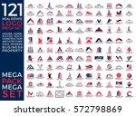 Mega Set and Big Group, Real Estate, Building and Construction Logo Vector Design Eps 10 | Shutterstock vector #572798869