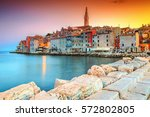 stunning romantic old town of... | Shutterstock . vector #572802805