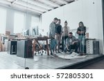 planning strategy together....   Shutterstock . vector #572805301