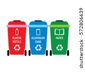 recycling bins for plastic... | Shutterstock .eps vector #572806639