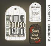 hand drawn cutting board mockup ... | Shutterstock .eps vector #572807701