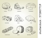 set of different kinds of... | Shutterstock .eps vector #572807719