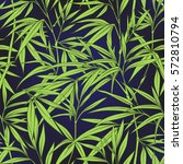 seamless pattern with bamboo... | Shutterstock .eps vector #572810794