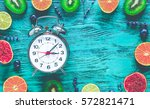 alarm clock   time to wake up... | Shutterstock . vector #572821471