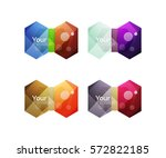 set of vector shiny blank boxes ... | Shutterstock .eps vector #572822185