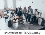 team of innovators.  full... | Shutterstock . vector #572822869